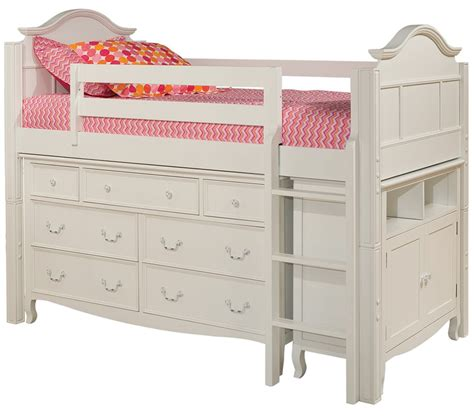 bunk beds with dresser built in dreamfurniture com emma twin loft bed with 7 drawer