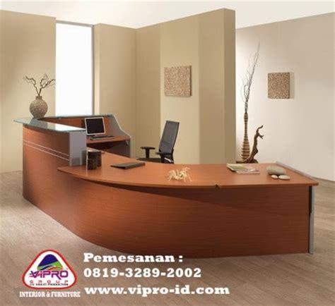 Meja Receptionist Kantor jasa pembuatan meja kantor partisi booth meja bar