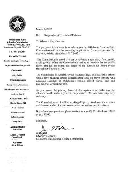 Sponsorship Letter For Karate Ufc Lawsuit Threat May Derail All Regulated Mma In Oklahoma Bloody