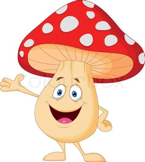 Hosue Plans by Cute Mushroom Cartoon Stock Vector Colourbox