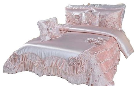 victorian comforter set dada bedding 5 piece dahlia sateen comforter set with
