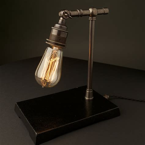 Lighting Tickets Vintage Industrial Bronze Small Table Lamp