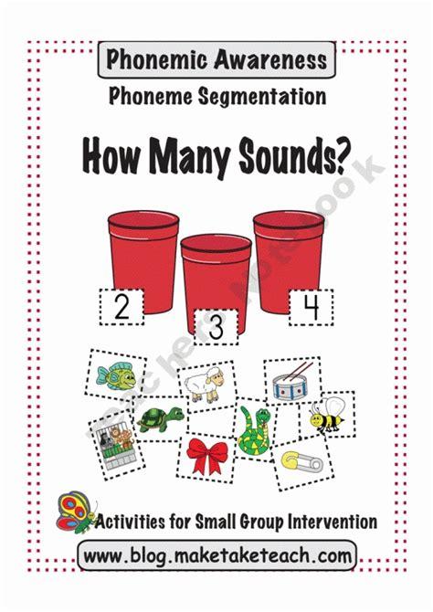 kindergarten activities phonemic awareness 33 best phoneme segmentation images on pinterest