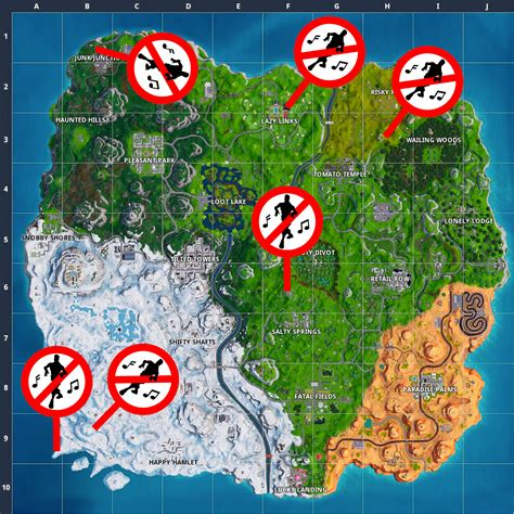 fortnite guide   dance  forbidden locations