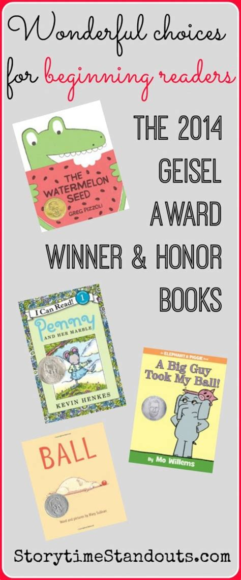 honor books the 2014 theodor seuss geisel medal award winner and honor