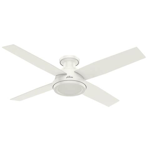 low profile white ceiling fan dempsey 52 in low profile no light indoor fresh