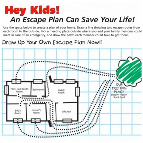 home safety plan kindergarten fire safety worksheets first grade garden