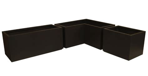 Black Plastic Window Box Planters - low rectangular planter versatile linear planter