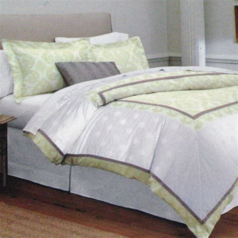 fieldcrest luxury 3 piece comforter set fieldcrest luxury mitered 3 pc queen duvet 2 shams yellow