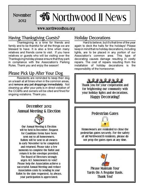 Hoa Community Newsletter Templates 81 Best Free Templates Images On Pinterest Printables Boxes And Calendar