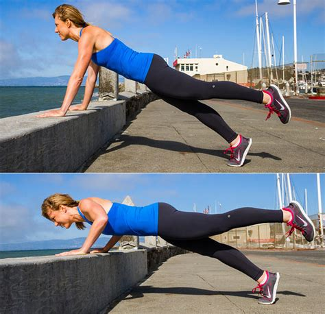 push ups on bench outdoor bench workout popsugar fitness