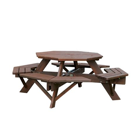 octagonal picnic benches aj products