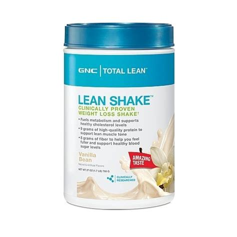 1 weight loss shake gnc total lean protein shake vanilla bean weight loss