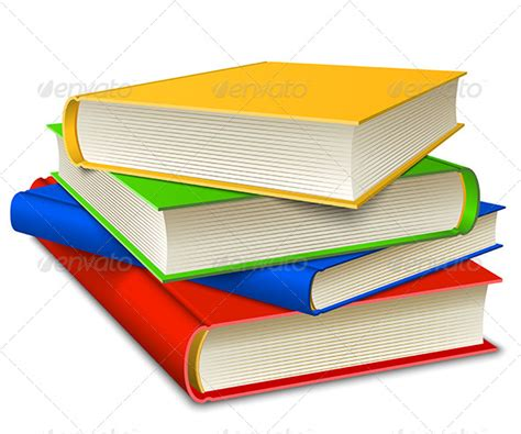 books stack graphicriver