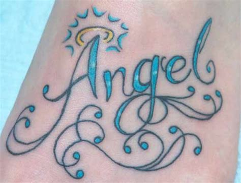 angel tattoo lettering document moved