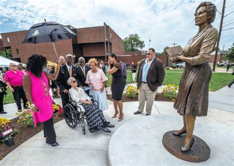 katherine johnson university nasa s katherine johnson honored with statue scholarship