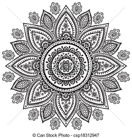 eps vector of beautiful indian floral ornament for your