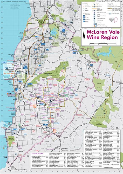 list of mclaren vale wineries mclaren vale wine region cartographic material