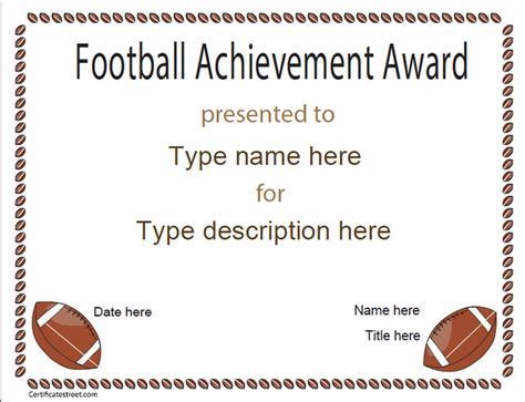Football certificates templates uk pics for gt football football certificate template soccer participation yelopaper Choice Image