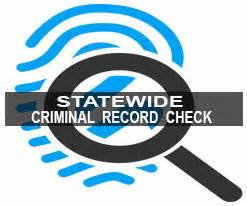 Statewide Criminal Background Check State Criminal Records Check