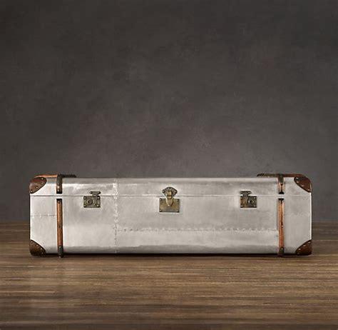 restoration hardware richards metal trunk coffee table