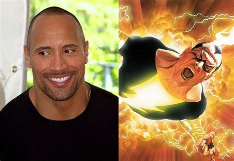 shazam  dwayne johnson  henry cavill tease superman  black adam clash  future