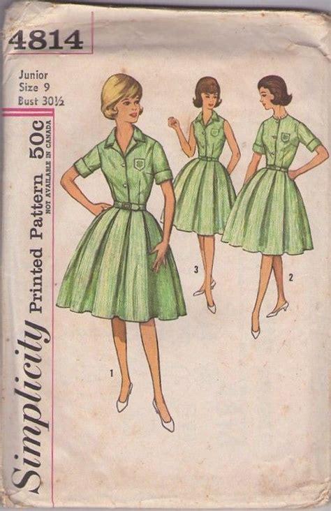 sewing pattern uniform simplicity 4814 vintage 60 s sewing pattern fantastic