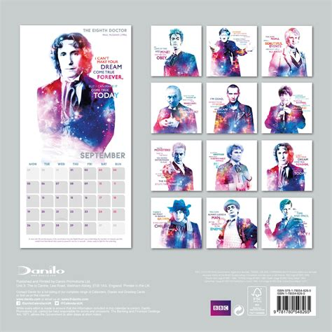 Doctor Who Desk Calendar by Ki Vagy Doki Classic Edition Napt 225 R 2018 Az