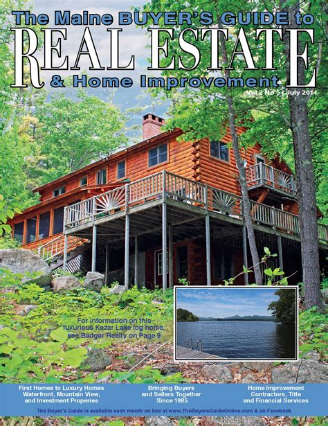 july 2014 maine buyer s guide to real estate home