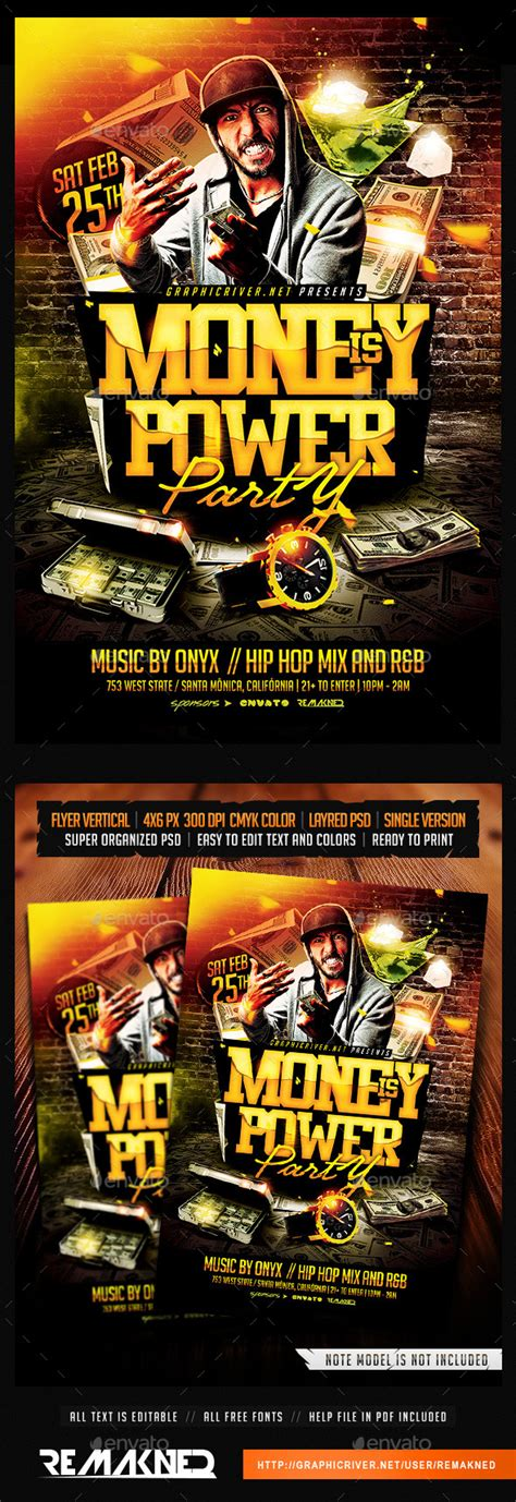 Money Party Flyers 187 Dondrup Com Money Flyer Template