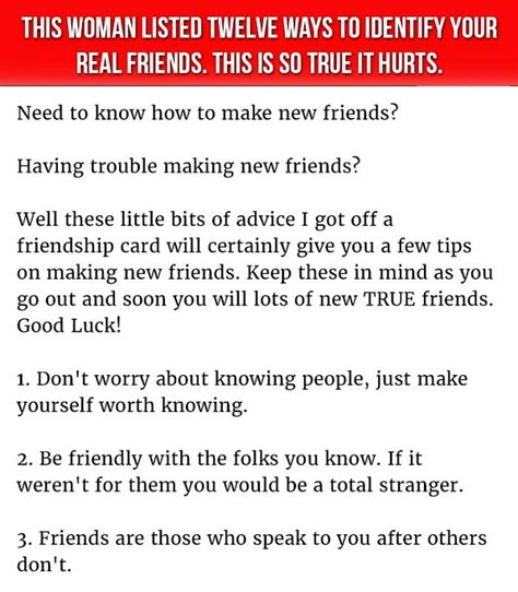 12 Ways To Tell If Its True 12 incredibly easy ways to tell who your real friends are