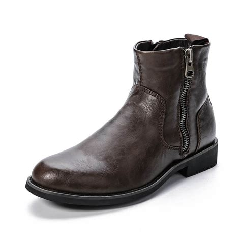 mens winter boots with zipper winter ankle boots with fur lined for zipper