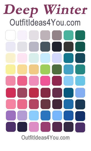 best hair color for deep winters 25 best ideas about winter color palettes on pinterest