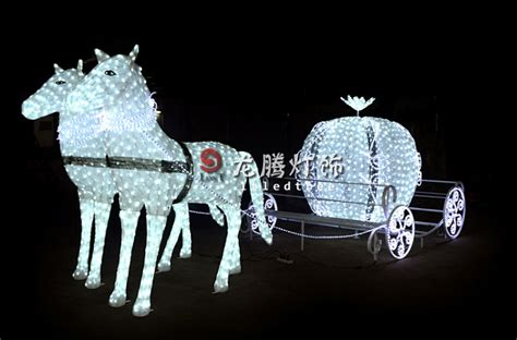 lighted christmas horse and carriage sleigh outdoor decorations www indiepedia org