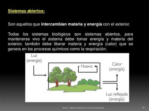 ejemplo de sistemas abiertos tema 1 sistemas ambientales