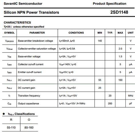 lateral power transistors in integrated circuits pdf d1148 datasheet d1148 pdf pinouts circuit savantic semiconductor