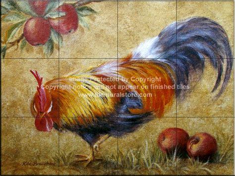 decorative tile backsplash farm animal tiles rooster