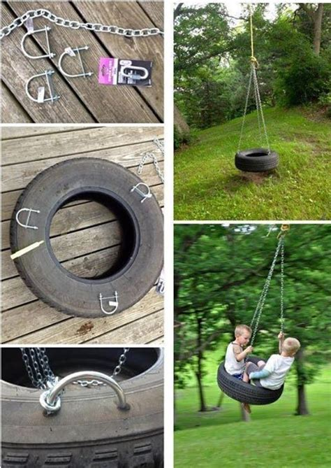 swing in spanish tire swing great site for ideas to use old tires