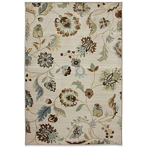 mohawk home serenity sol star rug in butter pecan bed