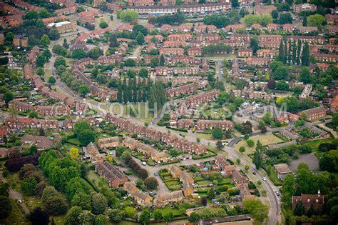 Media Vertical Garden - aerial view houses welwyn garden city hertfordshire jason hawkes
