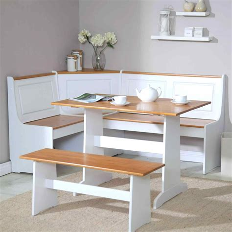 white kitchen table with bench deductour