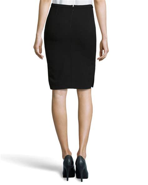 Side Slit Pencil Skirt heritage side slit pencil skirt black