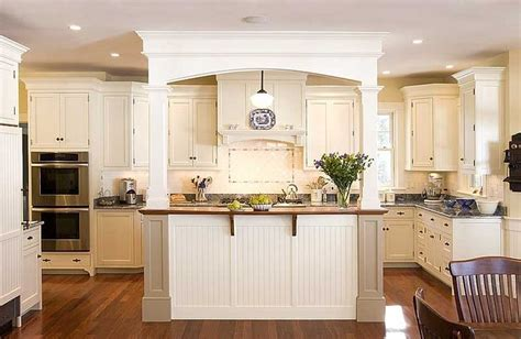 kitchen island with columns and arch home projects