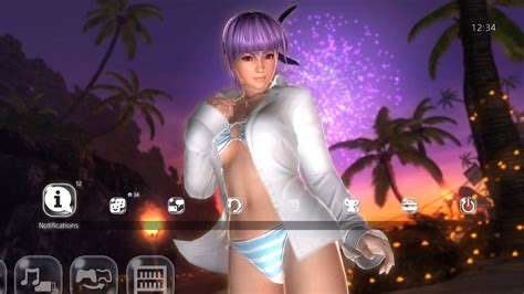 hot ps4 themes doa hot summer ayane theme on ps4 official playstation