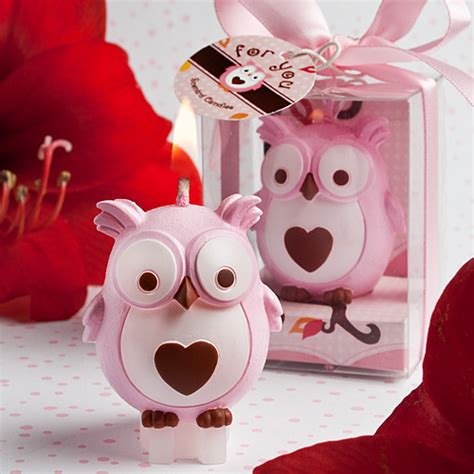 Owl Baby Shower Supplies by Pink Owl Candle Favor Baby Shower Favors Baby Shower