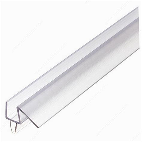 Glass Shower Door Hinge Gasket Co Extruded Bottom Wipe With Drip Rail Richelieu Hardware