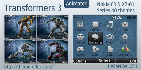 emo themes for nokia x2 01 transformers 3 animated theme for nokia c3 x2 01