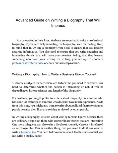 biography is written in what person professional bio writer help a complete guide in writing