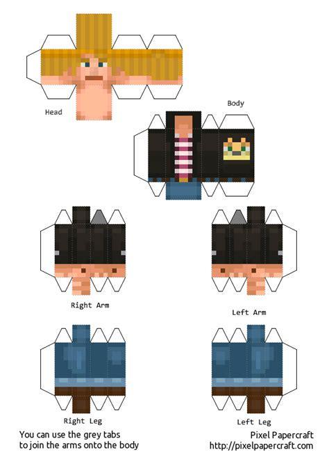 Story Papercraft - papercraft lukas minecraft story mode