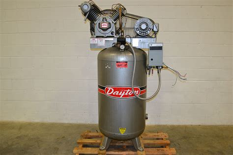 dayton 3z967b 5hp 80 gallon vertical 2 stage air compressor the equipment hub
